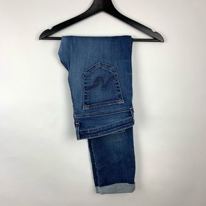 AG Stilt Roll Up Cigarette 30R Skinny Jeans Cuff